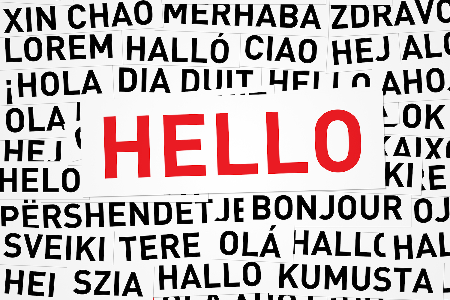 Hello in Different Languages