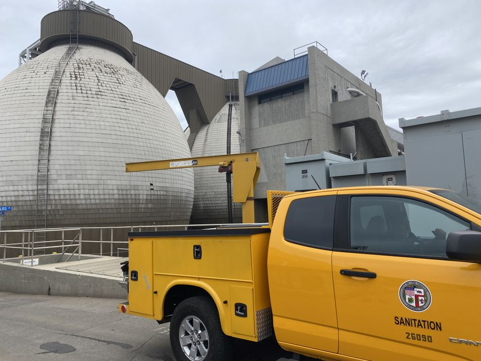 One of the digesters on BioSolids Lane